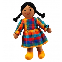 Lanka Kade Mum Doll - Brown Skin, Black Hair