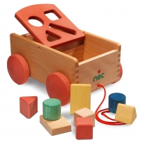 Nic Organic Carriage With Forms Shape Sorter
