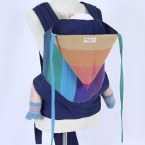 Wompat Baby Meh Dai Carrier - Vanamo Rainbow Purple