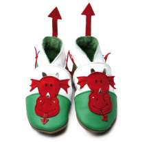 Inch Blue Welsh Dragon Shoes