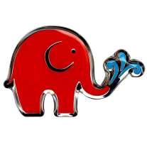 Babipurian Elephant Pin Badge