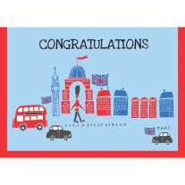 Piccalilly 'Congratulations' London Theme A5 Card