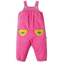 Frugi Bird Maple Cord Dungarees