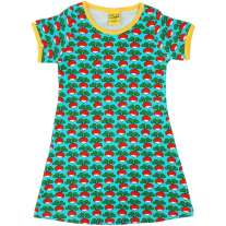 DUNS Adult Radish Turquoise A-Line SS Dress