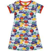 DUNS Adult Jellyfish Teal & Purple A-Line SS Dress