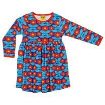DUNS Adult Blue Kurbits LS Gathered Dress