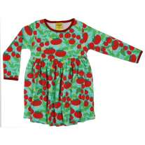DUNS Turquoise Growing Tomatoes LS Basic Dress