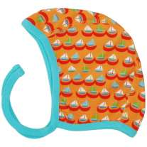 DUNS Orange Sailing Boats Baby Bonnet