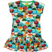 DUNS Jellyfish Blue & Green Cap Sleeve Dress
