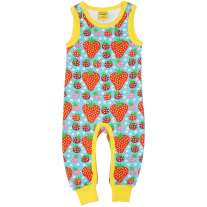 DUNS Turquoise Strawberry Field Dungarees