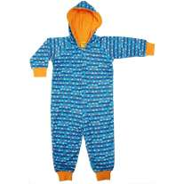 DUNS Blue Sailing Boats Lined Hooded Suit