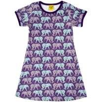 DUNS Elephant Walk Purple SS Dress