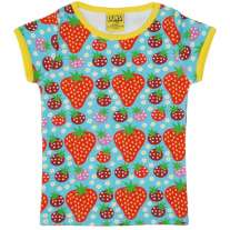 DUNS Turquoise Strawberry Field SS Top