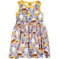 DUNS Ice Cream Lavender Sleeveless Gathered Dress