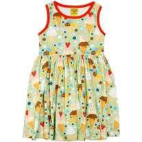DUNS Ice Cream Pistage Sleeveless Gathered  Dress