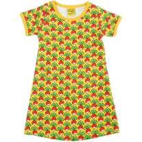 Duns Sweden Short Sleeve Dress - Radish/Yellow