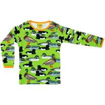 DUNS Flash Green Duck Pond LS Top
