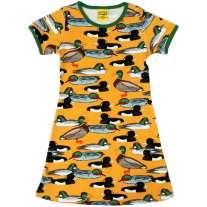 DUNS Adult Mustard Duck Pond A-Line SS Dress