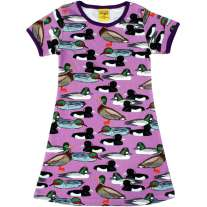 DUNS Adult Violet Duck Pond A-Line SS Dress