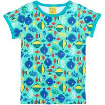 Duns Sweden Short Sleeve Top - Fish