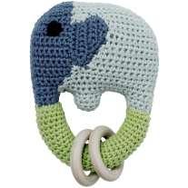 Franck Fischer Malou Blue Elephant Rattle