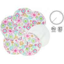 ImseVimse Flower Print Breast Pads 3 Pairs