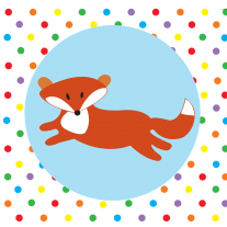 Babipur Spotty Fox Greetings Card