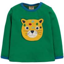 Frugi Cheeky Creatures Button Off Applique Top