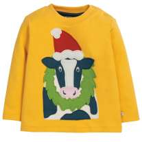 Frugi Cow Little Discovery Applique Top