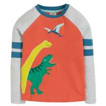 Frugi Dino Alfie Applique Top