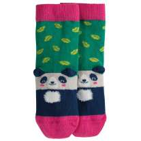 Frugi Jade Leaf Panda Perfect Pair Socks