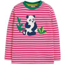 Frugi Panda Discovery Applique Top