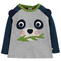 Frugi Panda Happy Raglan Top