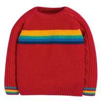 Frugi Rainbow Caleb Cable Knit Jumper