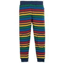 Frugi Rainbow Stripe Leap About Cuffed Leggings