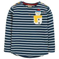 Frugi Snowman Louise Pocket Top