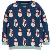 Frugi Snowmen Jolly Knitted Jumper