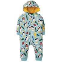 Frugi Paddling Puffins Snuggle Suit
