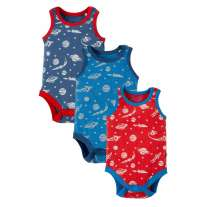 Frugi Space Sailor Vest Body x3