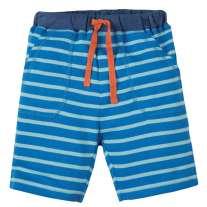 Frugi Blue Crab Little Breton Stripy Shorts