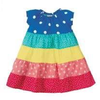 Frugi Rainbow Hotchpotch Dorothy Twirly Dress