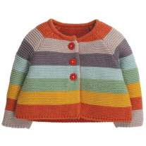 Frugi Soft Rainbow Cute As A Button Cardigan