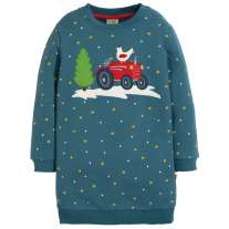 Frugi Tractor Eloise Jumper Dress