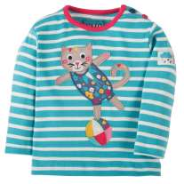 Frugi Cat Button Applique Top