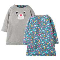 Frugi Cat Peek A Boo Dress