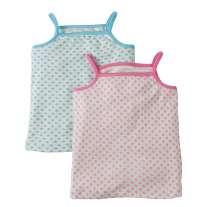 Frugi Clouds & Daisies Violet Vests x 2