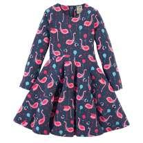 Frugi Flamingo Fun Sofia Skater Dress