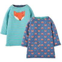 Frugi Fox Peek A Boo Dress