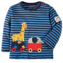 Frugi Giraffe Button Applique Top