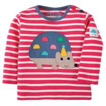 Frugi Hedgehog Button Applique Top